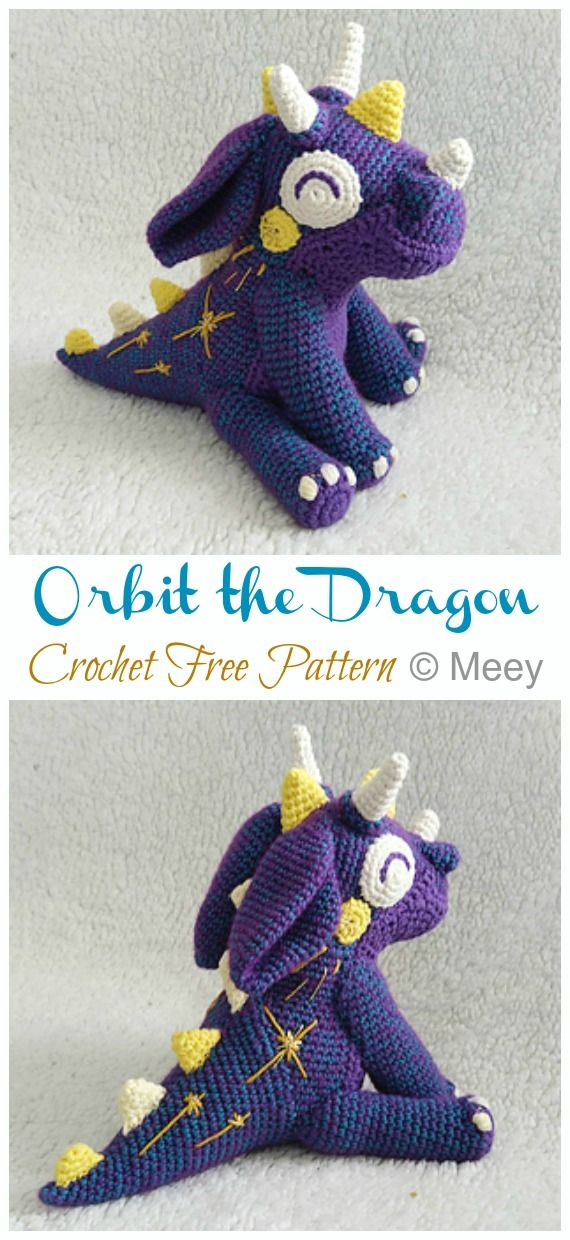Amigurumi Orbit the Dragon Crochet Free Pattern - Crochet & Knitting #amigurumidoll
