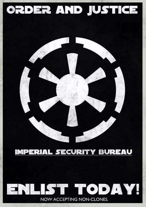starwars imperisl security bureau recruitment poster features the