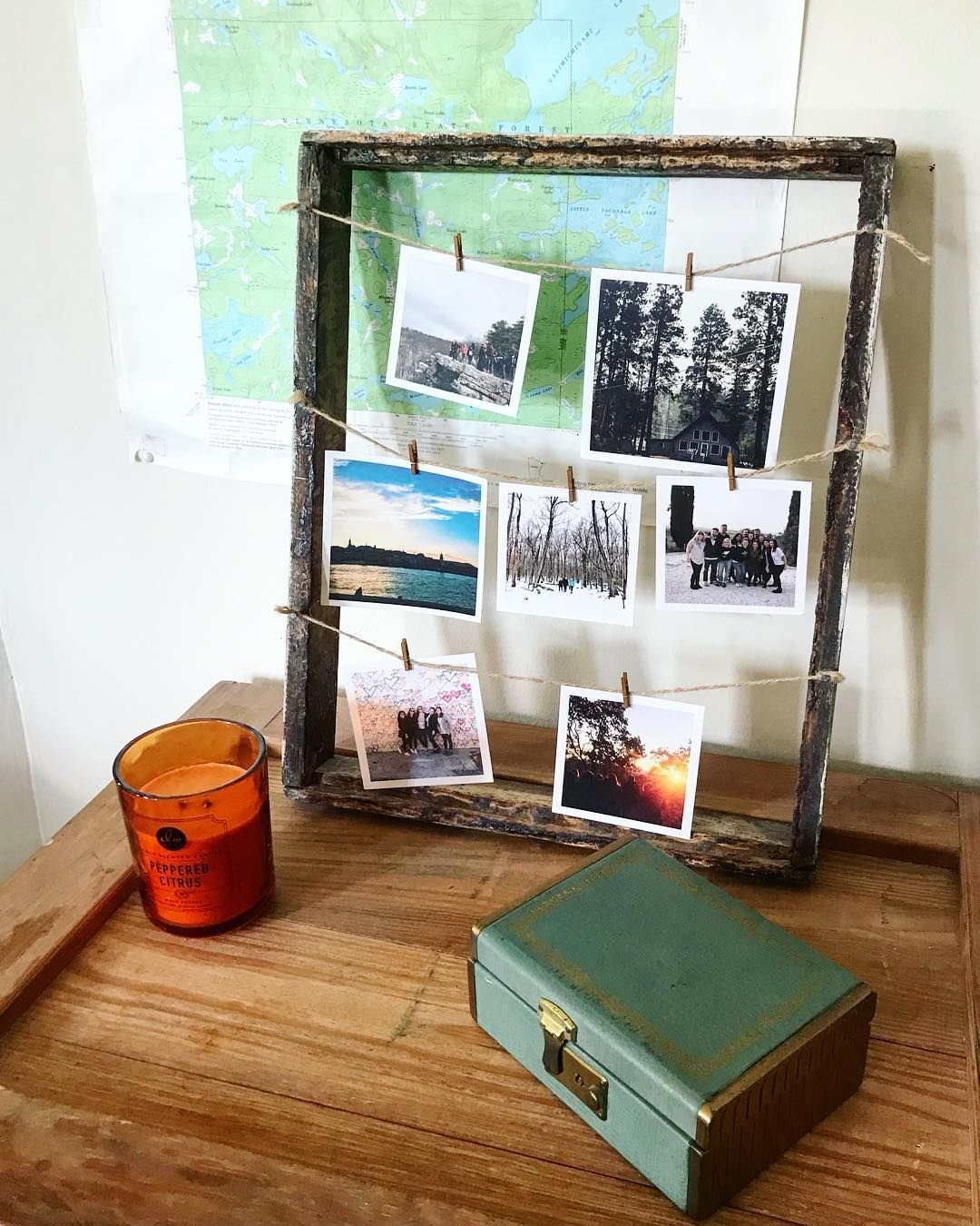 trendy diy photo display isnt this outdoorsy diy idea by the willemsen group with rolkruk ikea. Black Bedroom Furniture Sets. Home Design Ideas