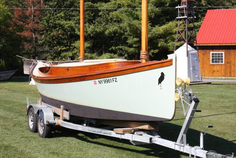 28 Egret Sharpie Catketch Woodenboat Magazine Egret In 2019