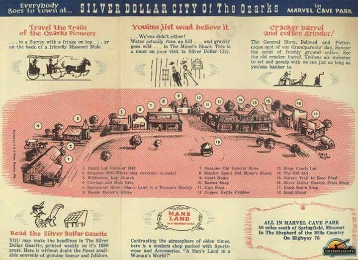 1962 Silver Dollar City Brochure Silver Dollar City Branson Missouri Ozarks