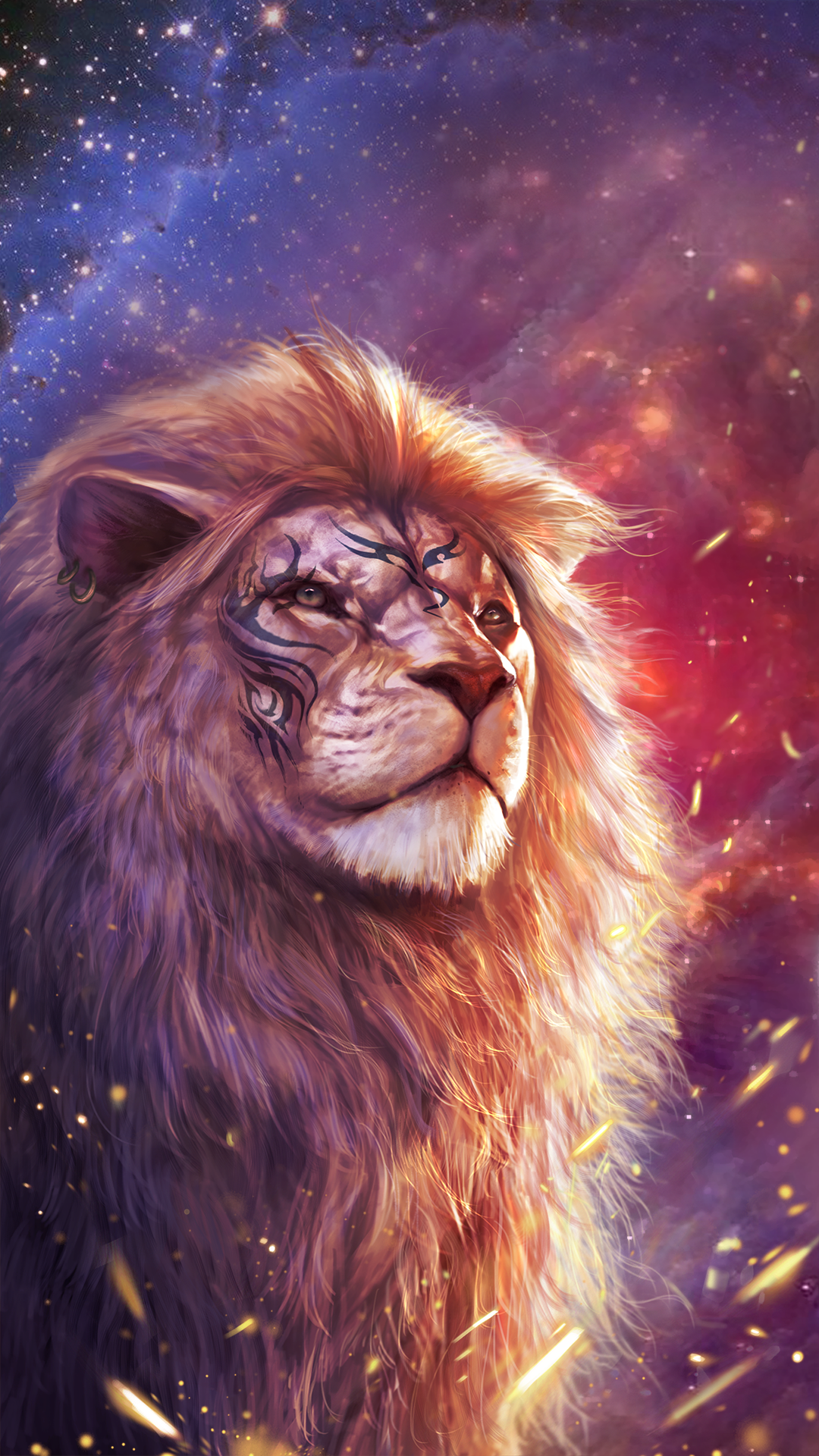 Cool lion wallpaper with totem tattoo! Android live