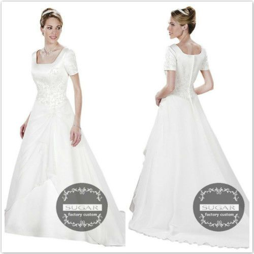 Brand 2013 Vintage Wedding Dress With Short Seeve Embroidery Long Wedding Gown GB29 from Reliable vintage wedding dress suppliers on SUGAR custom made (wedding dress) outlet $286.00