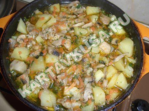 Рецепты блюд из картошки и свинины