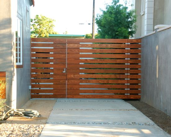 Backyard Gate With Chedar Wood Gate Design Ideas Exterior Garden ...