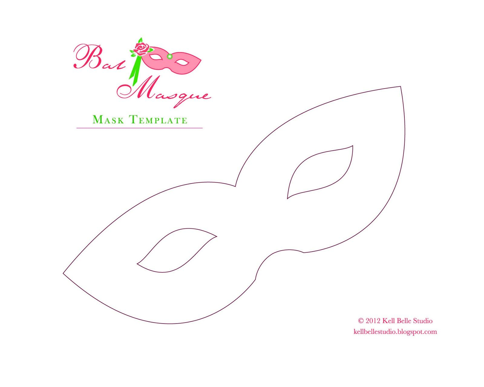Free Mardi Gras Mask Template | Free Paper Mask Template   Click Image For  Full Size