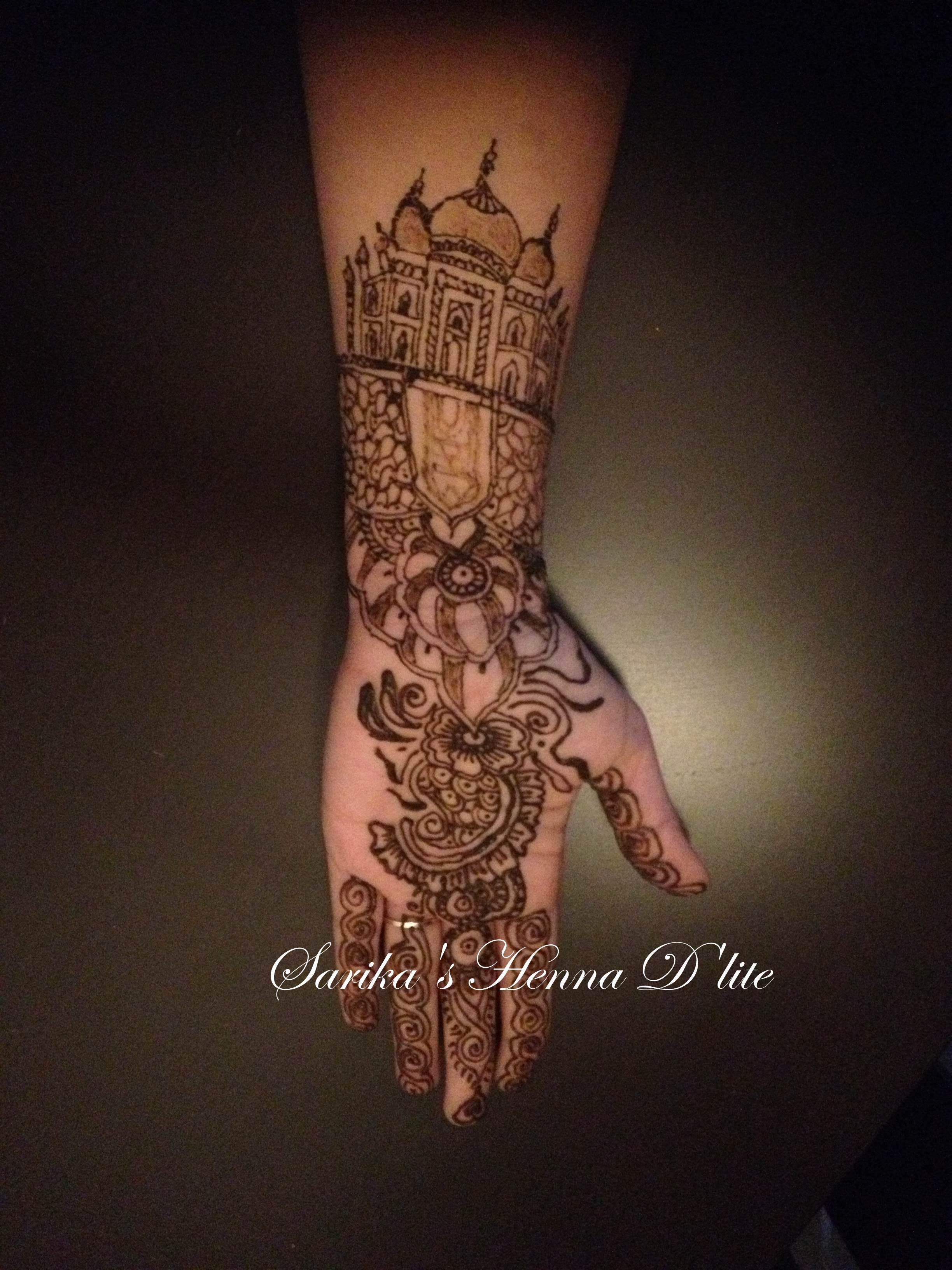 Taj-Mahal Henna Tatoo