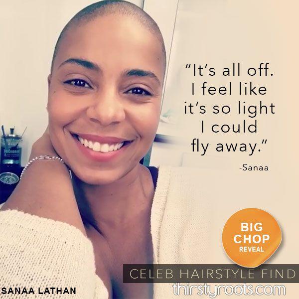 Sanaa Lathan Bald And Big Chop Beautiful For New Netflix Movie Natural Hair Styles Sanaa Lathan Natural Hair Beauty