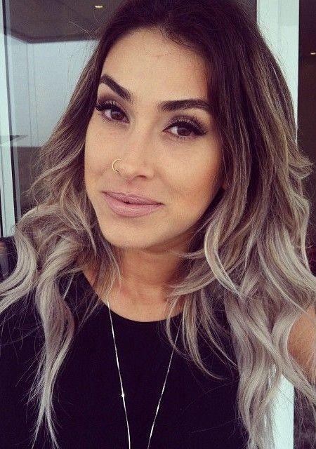 Braune Haare Ombre : ash blonde and silver ombre hair hair color ideas hair pinterest haar ideen braune ~ Udekor.club Haus und Dekorationen