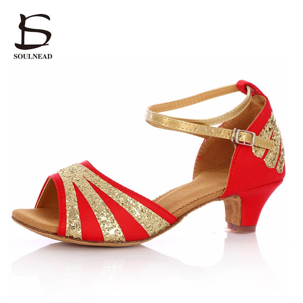 e93d1d498f 2016 New latin dance shoes woman golden lace-up Salsa Tango dancing ...