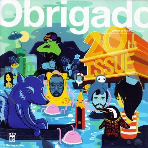 Jade Klara is one to watch. look at this impressive work for Obrigado [Vida] bringing together my two fav things: artisan hot beverages and edgy illustration. Score!