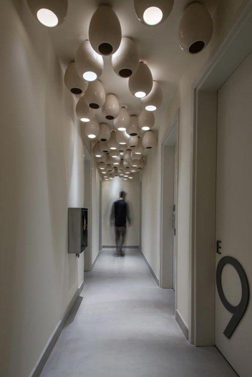 Coco Mat Nafsika Hotel Ii By Lightworks The Greek Foundation Ceiling Mount Light Fixtures Corridor Design Hallway Designs