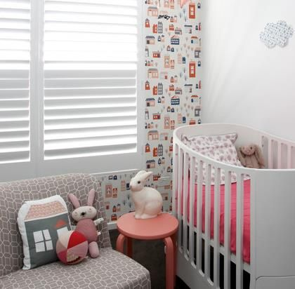 Mini Crib Small Nursery Ideas:Decorating Ideas For A Small Babys Room. This  Is