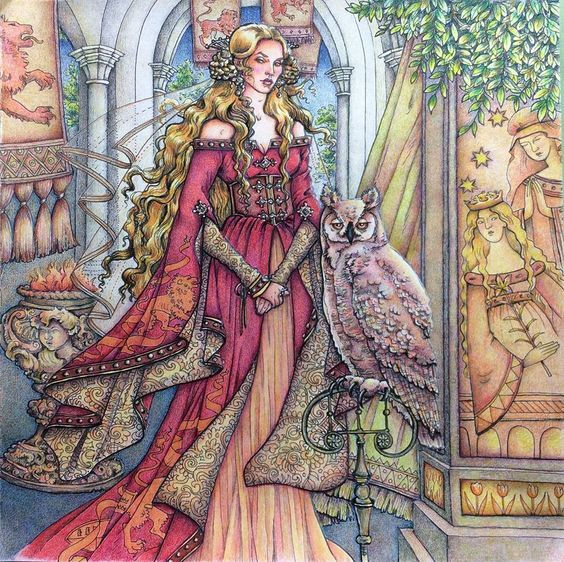 Coloured By Johanne Lafontaine Game Of Thrones Colouring Book Price GBP500 At Amazon
