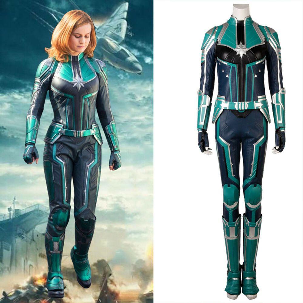Captain Marvel Jumpsuit Kostüm Damen als Verkleidung für Halloween und Karneval