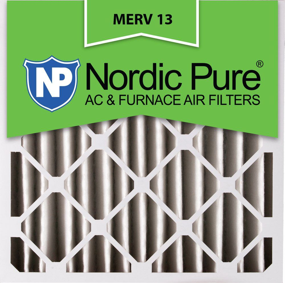 Nordic Pure 20x20x4 (35/8 Atcual Depth) MERV 13 Pleated