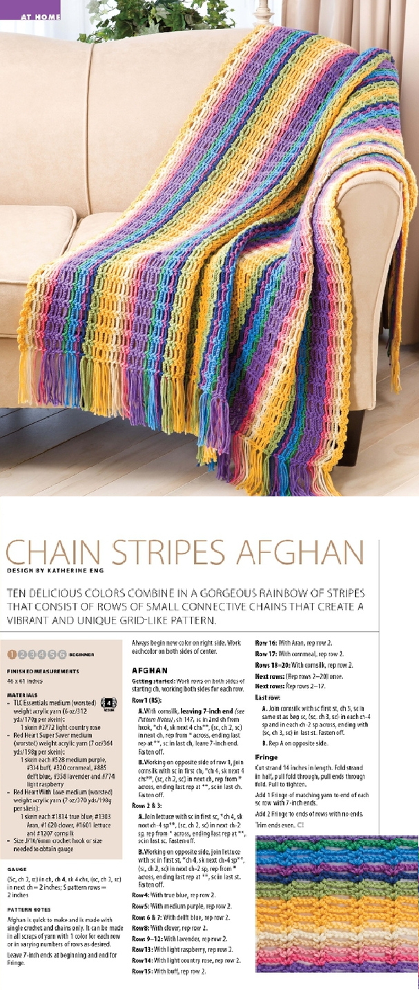 chain stripes afghan - perfect crochet froject for beginners and the ...