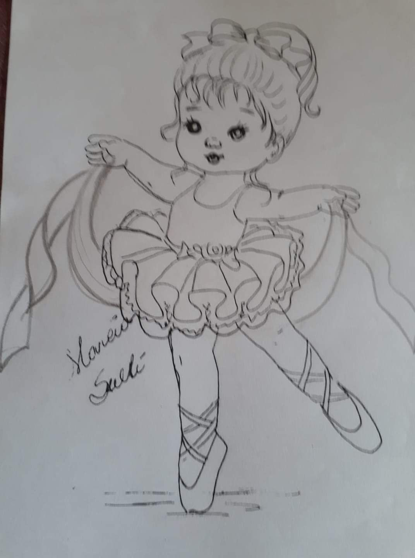 Dibujos De Bailarinas Pintura Em Fraudas Riscos Para Pintura