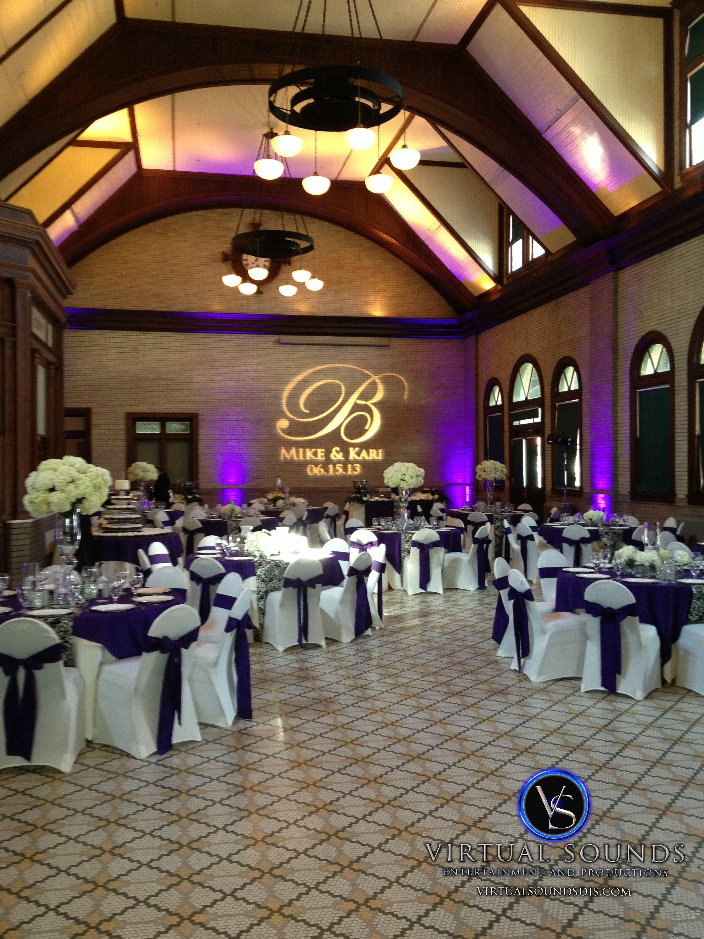 Purple Uplighting And Custom Monogram At The Salisbury Train Depot Wedding News Venues: Cu New York Wedding Venue At Reisefeber.org