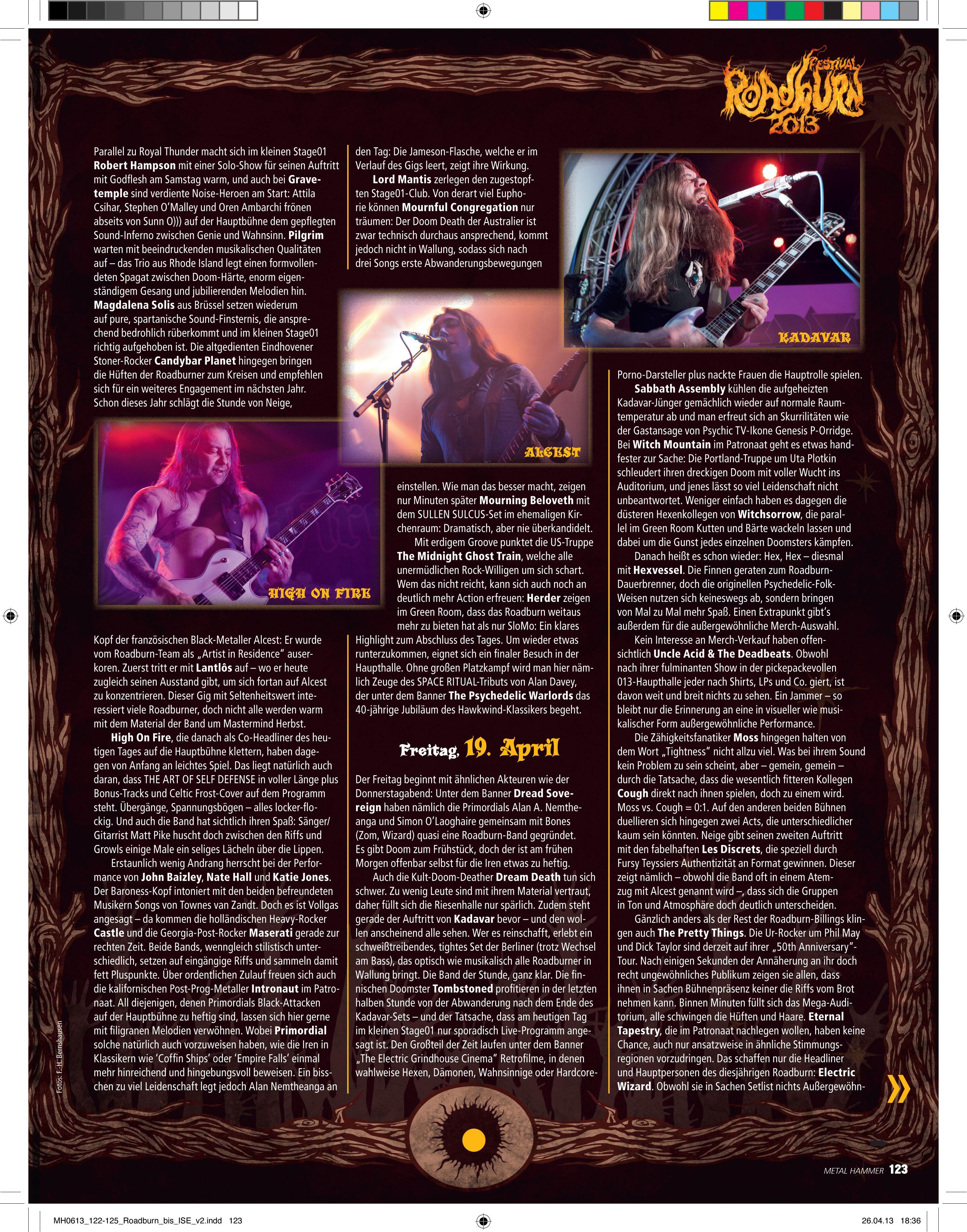 Roadburn 2012, Metal Hammer (Germany)