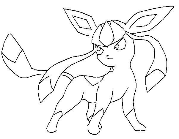 Pokemon Coloring Pages Glaceon | LineArt: Pokemon (Detailed ...