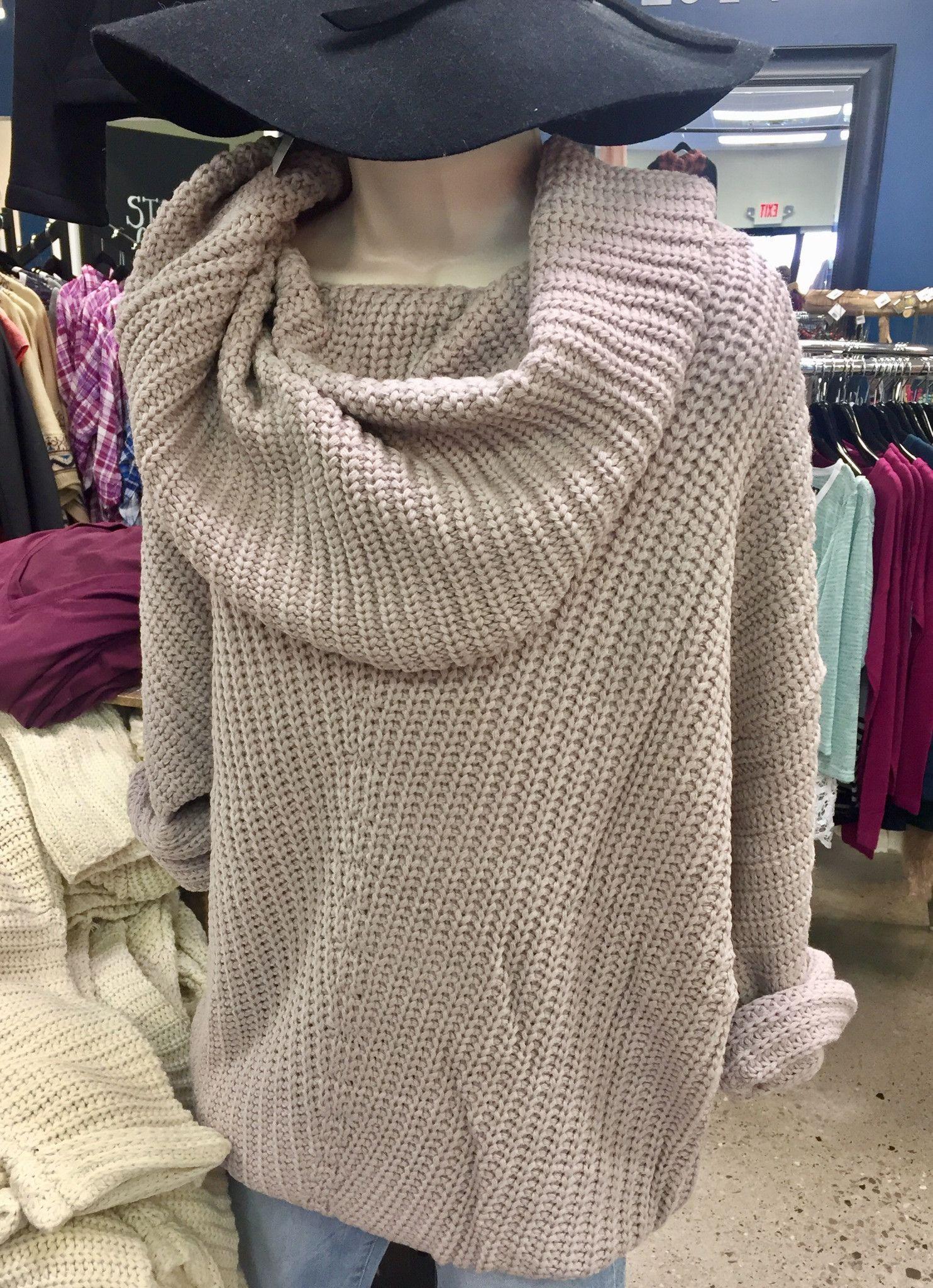 Folded Neck Sweater