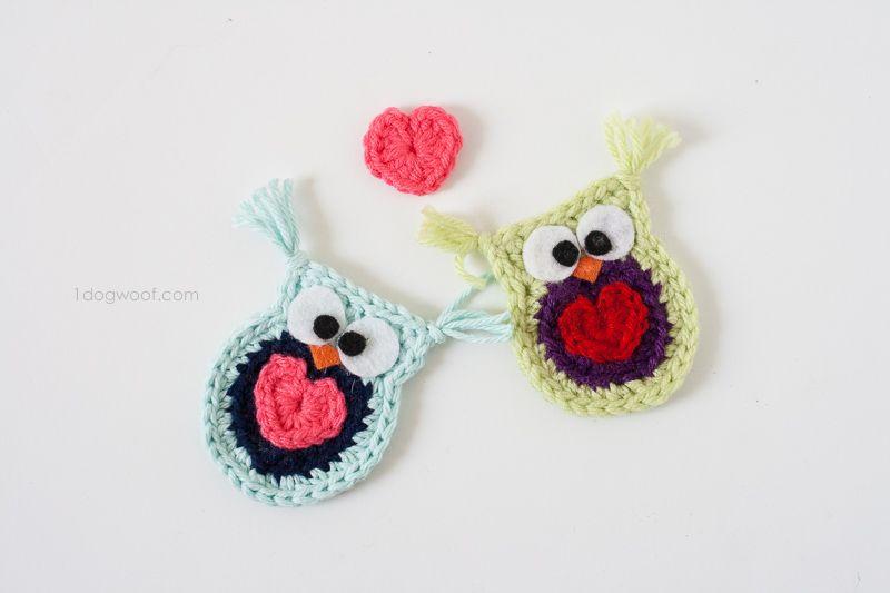 Owl Always Love You Crochet Owl Applique   Patrones