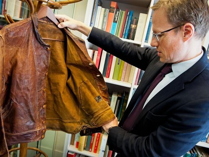 Genius buy: Einstein's smelly leather jacket sells for $146000