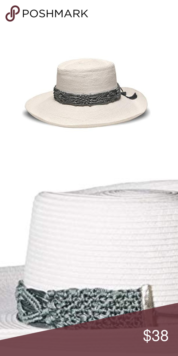 f8c416310397f Straw Plantation Hat with Macrame Trim NWT!  ale by alessandra Women s  Braza Toyo Straw