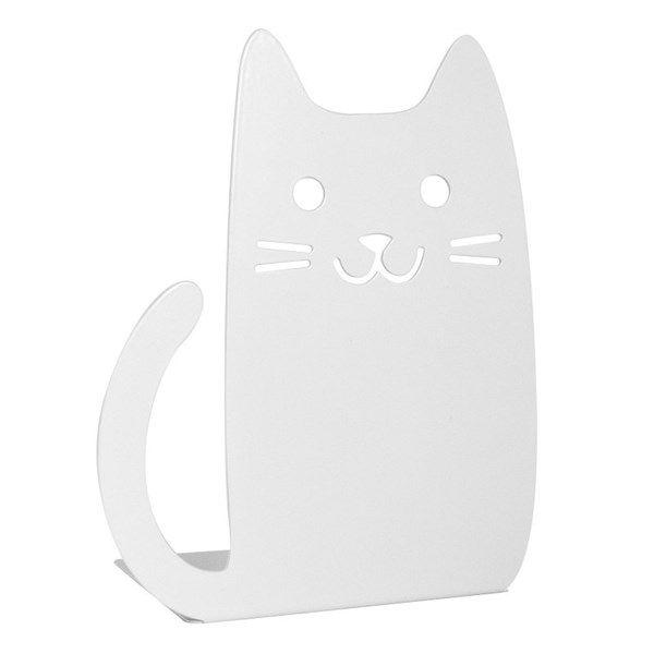 Kirjatuki kissa, valkoinen