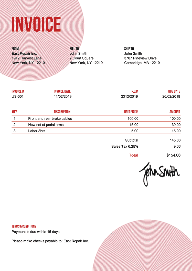 Invoice Templates For Easy Billing Invoice Template Invoice Design Template Invoice Design