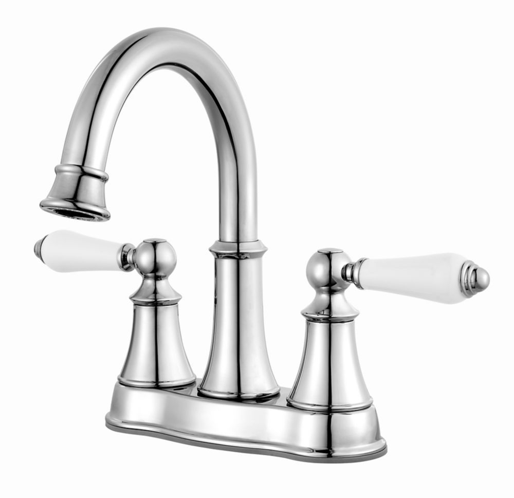Courant 4 Inch Centerset Bathroom Faucet Polisehd Chrome