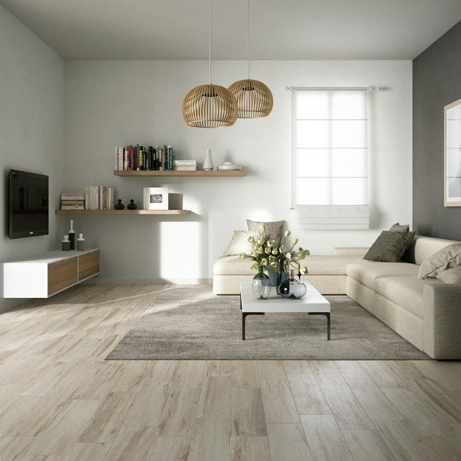 Wood Effect Floor Tiles Give Living Rooms Timber Plank Perfection
