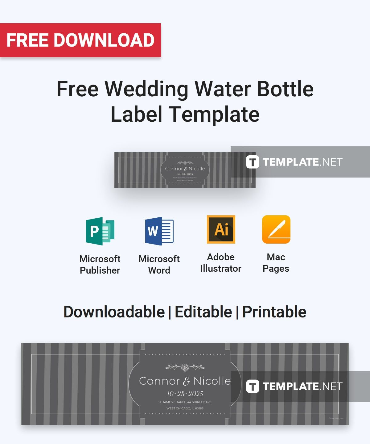 Free Download Label Templates Microsoft Word Free Wedding Water Bottle Label  Label Templates Template And Graphics