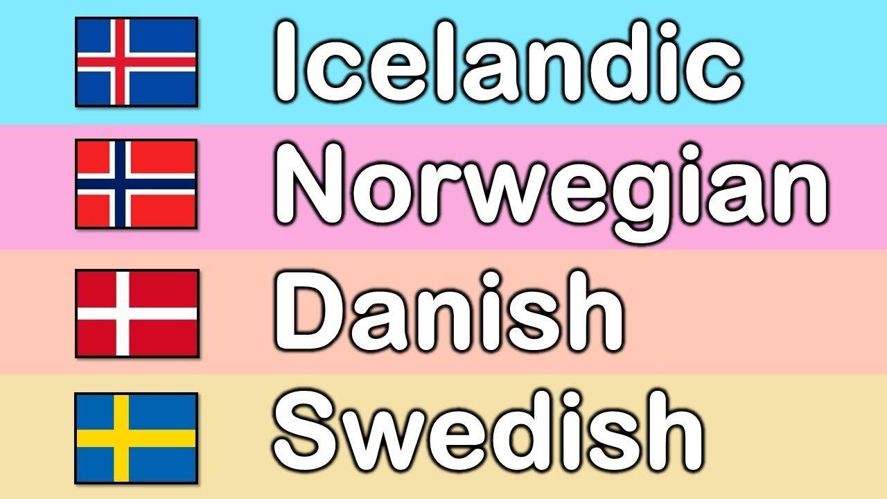 Basic Phrases In Scandinavian Languages Youtube Swedish Language Language Danish Language