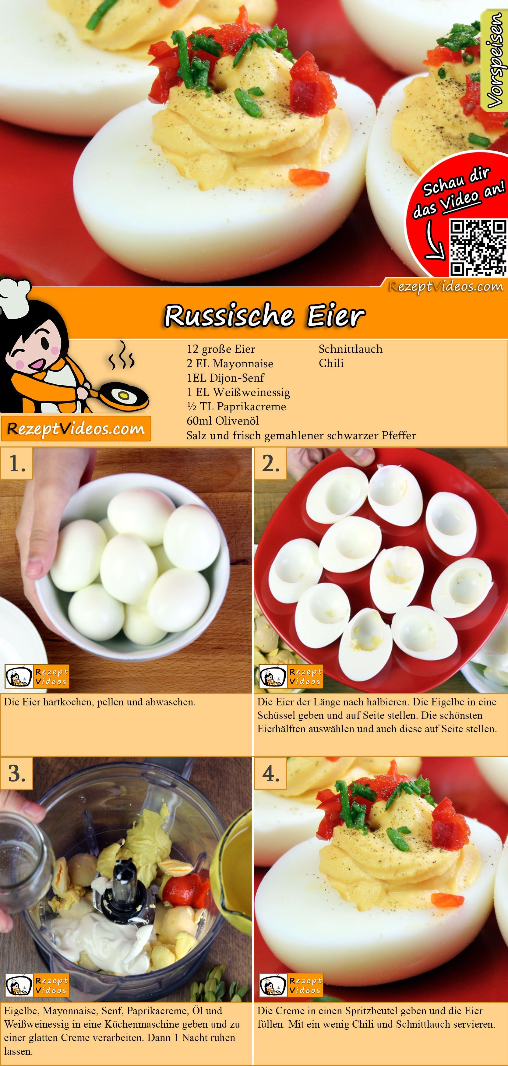 Photo of Russian Egg Recipe with Video – Party Recipes / Finger Food – Sandy