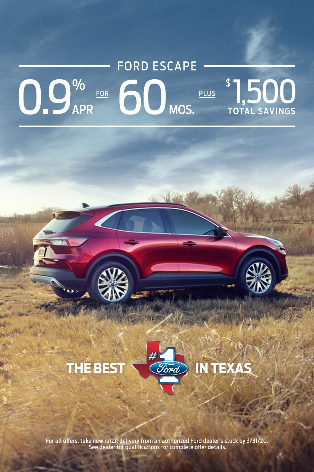 Everything Is Bigger In Texas Including The Distance You Have To Drive To Go Anywhere The 2020 Ford Escape Was Built F In 2020 Ford Escape Ford Ford Motor Company
