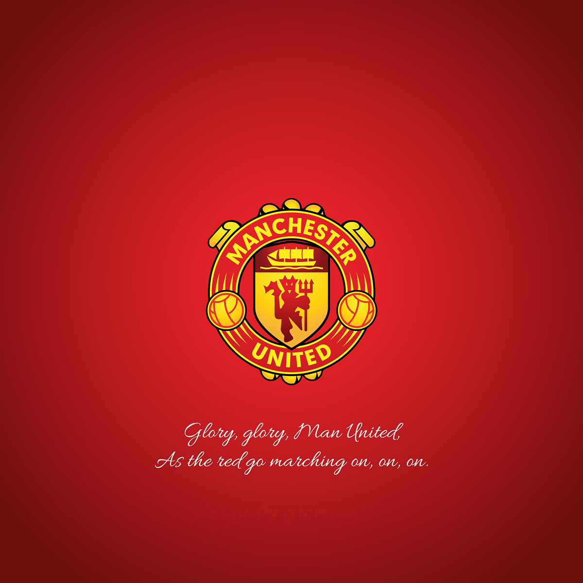 Manchester United Logo Redesign Blue Version On Behance Manchester United Logo Logo Redesign The Unit
