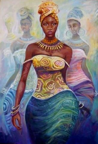 Image result for afro painting confidence