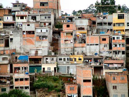 Poverty Housing Sao Paulo South American Brazil South America