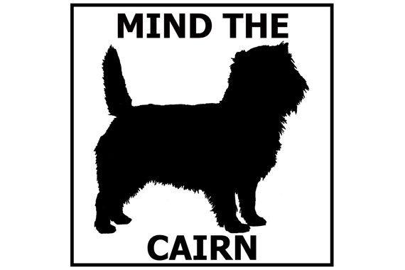 "Cairn Terrier Sticker 4x4/"""