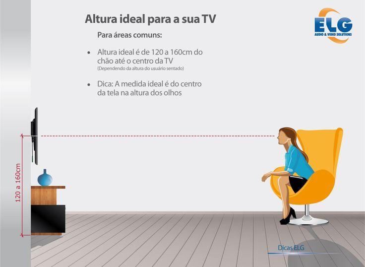 Altura ideal para assistir tv sala pesquisa google - Altura para colgar tv ...
