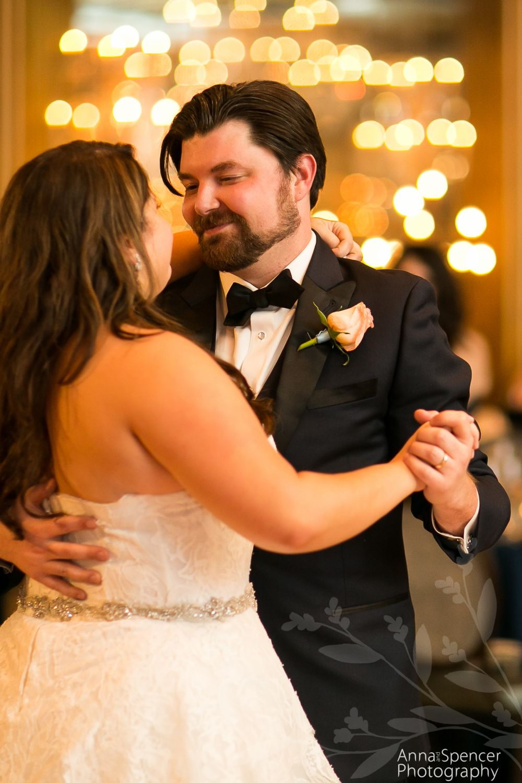 Wedding first dance at the Mansion on Forsyth Park ballroom in Savannah Georgia