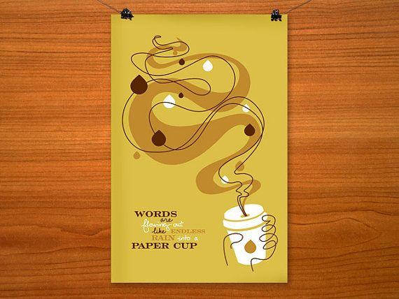 Coffee & Beatles Lyric Wall Art/Poster Hand by luckythirteendesign ...