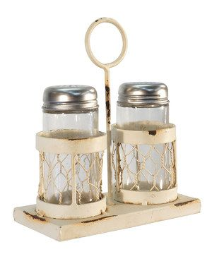 As any discerning decorator knows, it's the little things that matter. Meticulously designed from high-quality materials, this salt and pepper shaker and holder add a lighthearted touch to any table space.
