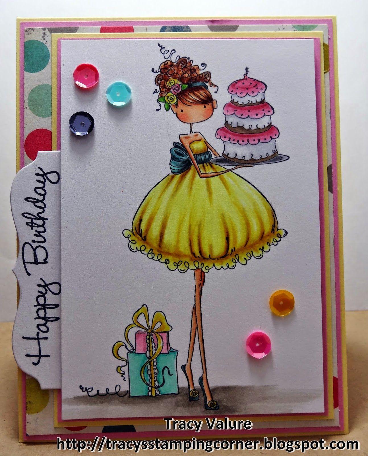 Tracy's Stamping Corner: Happy Birthday Stamping Bella