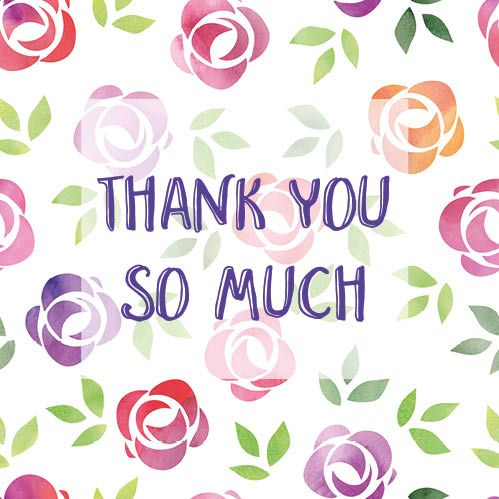 Thank You So Much Floral Card Thank You For Birthday Wishes Thank You Wishes Thank You Images