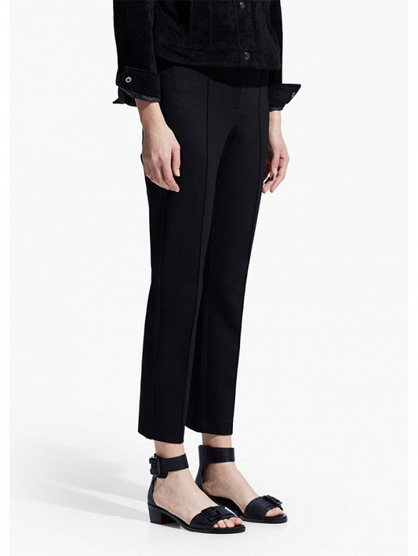 Mango Ponte Trousers in Black // perfect everyday pants