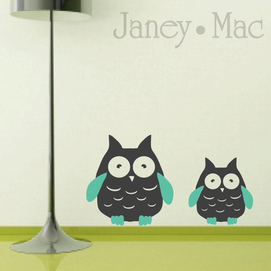 Owl Wall Decal Modern Adorable Twin Owl Wall Decor Childrenus