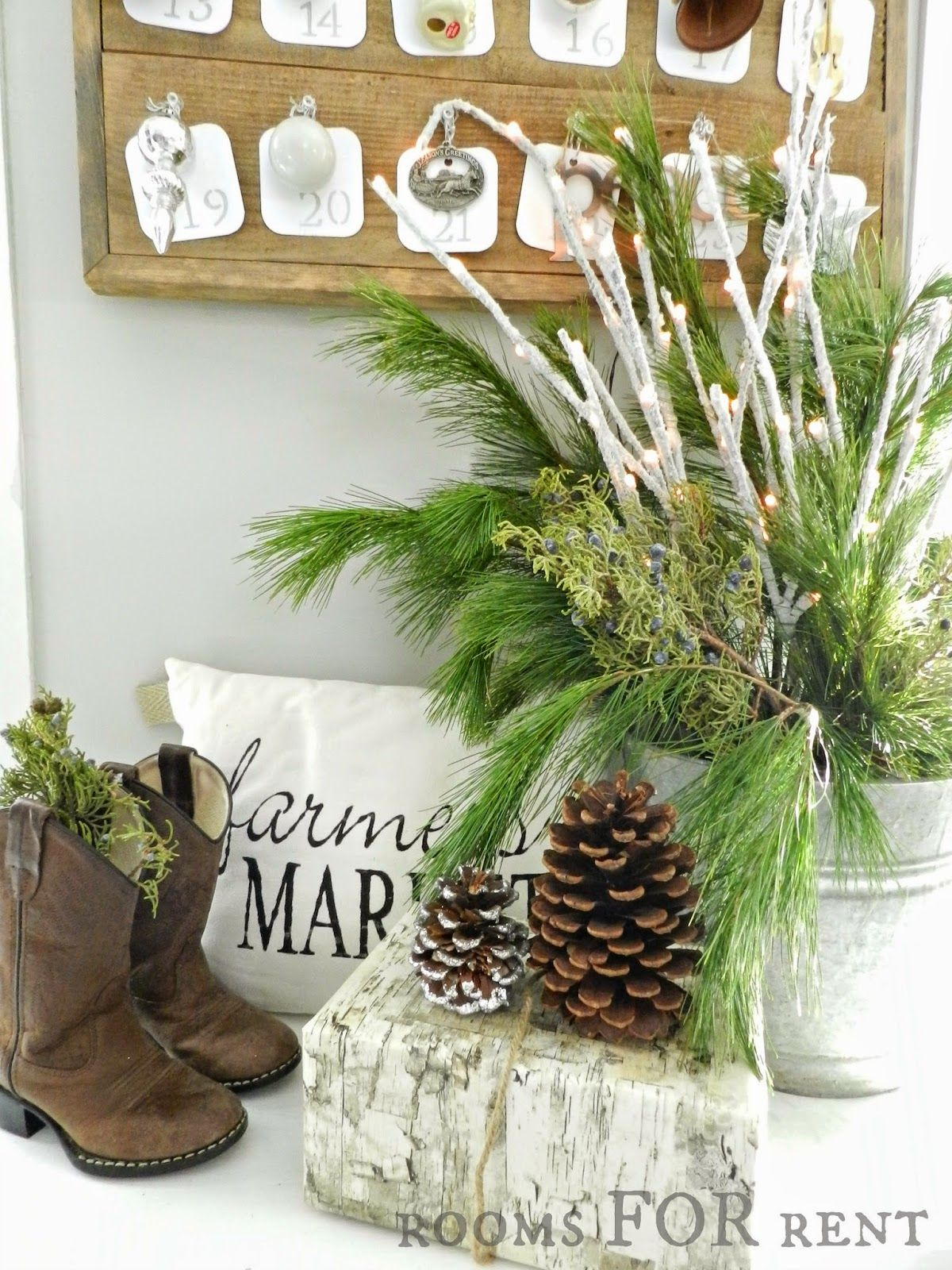 Wood Planked Advent Calendar Rooms for rent, Farmhouse